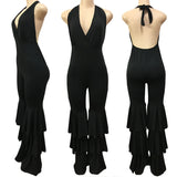 TRIPLE RUFFLE JUMPSUIT - B ANN'S BOUTIQUE
