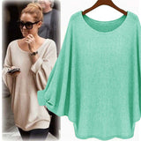 KNITTED PULLOVER WITH BATWING SLEEVES - B ANN'S BOUTIQUE