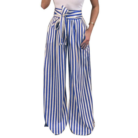 WIDE LEG STRIPED TROUSERS - B ANN'S BOUTIQUE