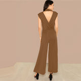 BELLA BROWN JUMPSUIT - B ANN'S BOUTIQUE