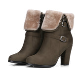 FUR-LINED ANKLE BOOTIES - B ANN'S BOUTIQUE