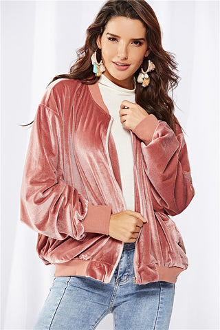 PINK LADY BOMBER - B ANN'S BOUTIQUE