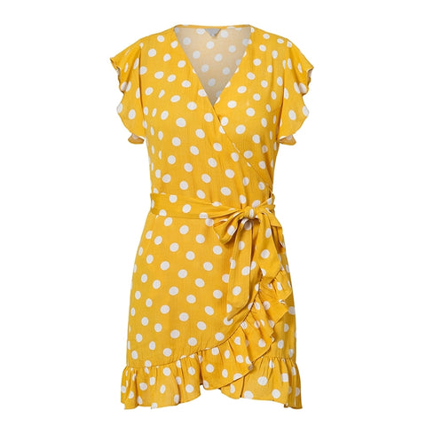POLLY'S PERFECT POLKA DOT WRAP DRESS - B ANN'S BOUTIQUE