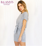 RUCHED WAIST MINI SHEATH DRESS - B ANN'S BOUTIQUE