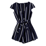 NAVY & WHITE… EVERYTHING'S ALRIGHT ROMPER - B ANN'S BOUTIQUE