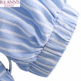 BLUE & WHITE STRIPE IS JUST RIGHT TOP - B ANN'S BOUTIQUE
