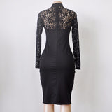 LACE TOP BODYCON MIDI-DRESS - B ANN'S BOUTIQUE