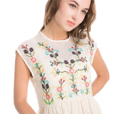 SAVANNAH SWEET FLORL EMBROIDERY DRESS - B ANN'S BOUTIQUE