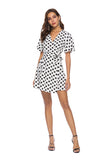 POLKA DOT PERFECT WRAP DRESS - B ANN'S BOUTIQUE