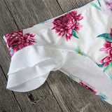 FLORAL RUFFLED TWO-PIECE SWIMSUIT - B ANN'S BOUTIQUE