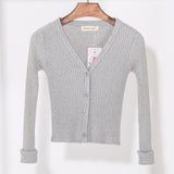 KNITTED V-NECK CARDIGAN - B ANN'S BOUTIQUE