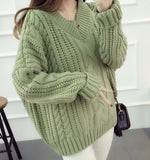 CABLE KNIT PULLOVER SWEATER - B ANN'S BOUTIQUE