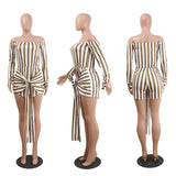 SERENA'S STRIPE IT RIGHT ROMPER