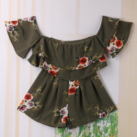 DOUBLE RUFFLE DOUBLE DELIGHT ROMPER - B ANN'S BOUTIQUE