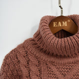 HEAVY CABLE-KNIT TURTLENECK - B ANN'S BOUTIQUE