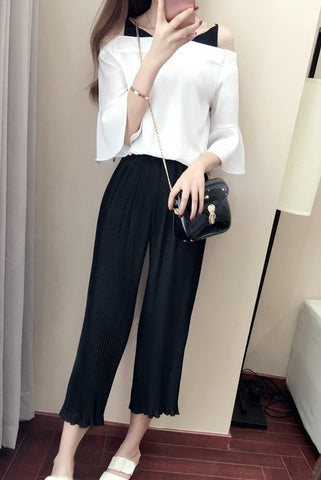 YIN & YANG ANKLE PANTS SET - B ANN'S BOUTIQUE