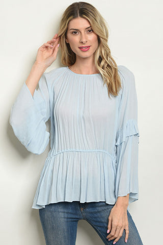 BLUE BETTY BLOUSE - B ANN'S BOUTIQUE