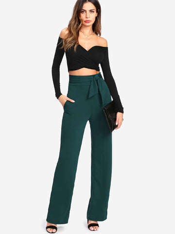 OCEAN WAVES TIE-UP PANTS - B ANN'S BOUTIQUE