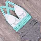 SAMMIE STRIPE SWIMSUIT