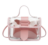 POP OF COLOR CLEAR CROSSBODY