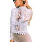 SEXY SHEER LACE BLOUSE - B ANN'S BOUTIQUE