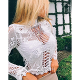 LOVELY IN LACE CROPPED TOP - B ANN'S BOUTIQUE