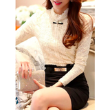 CROCHET LACE BLOUSE - B ANN'S BOUTIQUE