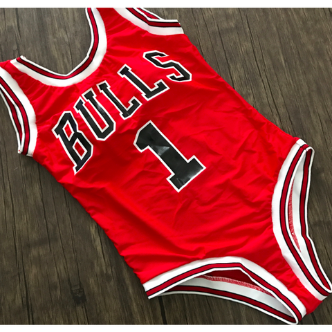 CHICAGO BULLS ONE-PIECE HIGH CUT SWIMSUIT - B ANN'S BOUTIQUE