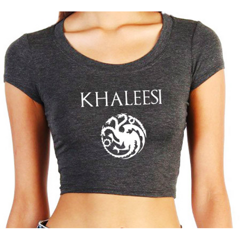 I'M NOT A QUEEN… I'M A KHALESSI CROPPED TOP - B ANN'S BOUTIQUE