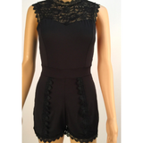 FARRAH'S FITTED LACE ROMPER - B ANN'S BOUTIQUE