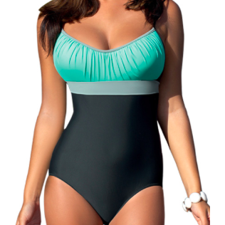 COLOR BLOCK VINTAGE RETRO ONE-PIECE - B ANN'S BOUTIQUE