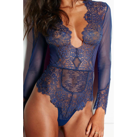 THE LONG-SLEEVE LACE BODYSUIT - B ANN'S BOUTIQUE