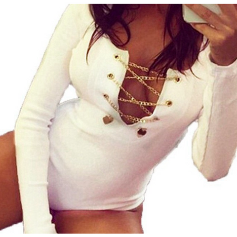 CHELSEY CHAIN BODYSUIT - B ANN'S BOUTIQUE
