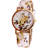 FLOWER POWER LEATHER WATCH - B ANN'S BOUTIQUE