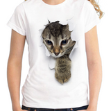 CUTE KITTY 3-D TEE - B ANN'S BOUTIQUE