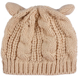 KNITTED WOOL CAT EARS BEANIE CAP - B ANN'S BOUTIQUE
