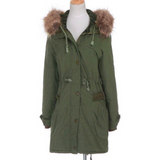 PARKA COAT WITH FAUX FUR LINING - B ANN'S BOUTIQUE