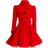 DOUBLE-BREASTED WOMENS BELTED PEACOATS - B ANN'S BOUTIQUE