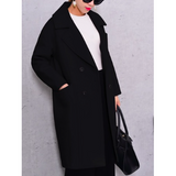 SINGLE BREASTED LONG WOOL COAT - B ANN'S BOUTIQUE