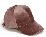 WOMENS VELVET BASEBALL CAP - B ANN'S BOUTIQUE
