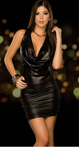LEATHER (NOT) CLUB DRESS - B ANN'S BOUTIQUE