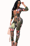 FITTED & FLAUNTING FLORAL JUMPSUIT - B ANN'S BOUTIQUE
