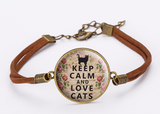KEEP CALM LOVE CATS BRACELET - B ANN'S BOUTIQUE