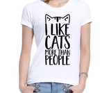 I LIKE CATS TSHIRT - B ANN'S BOUTIQUE