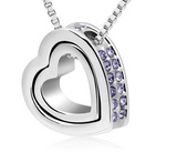 DOUBLE HEART PENDANT NECKLACE - B ANN'S BOUTIQUE