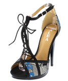 AMANDA BLUE PEEP TOE - B ANN'S BOUTIQUE