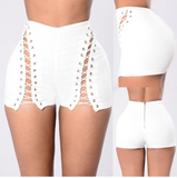 LACE-UP HOT PANTS - B ANN'S BOUTIQUE
