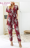 FLORAL WRAP-IT-UP JUMPSUIT - B ANN'S BOUTIQUE