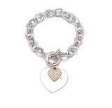 DOUBLE HEART CHAINS OF LOVE BRACELET - B ANN'S BOUTIQUE