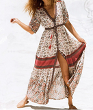 HIPPIE CHICK BUTTON UP DRESS - B ANN'S BOUTIQUE